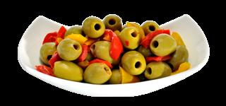 Olive denocciolate con peperoncino