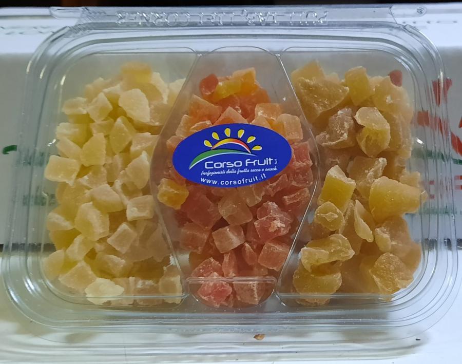 Vaschette Tris Ananas, Papaya e Ginger
